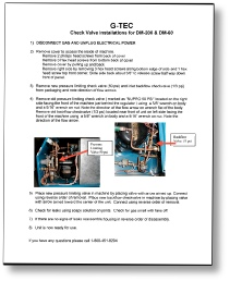 DM-60 instructions to change check valve