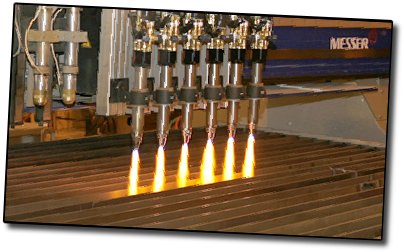 Messer flame cutting table with ALFA torches