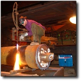 Flame cut 27 inch thick steel with high-pressure natural gas