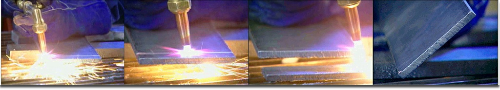 Flame cutting steel with high pressure natural gas