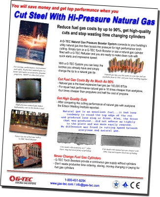 Brochure - flame cutting steel with high pressure natural gas