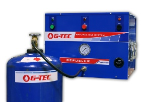 Refueler 60 with natural gas cylinder