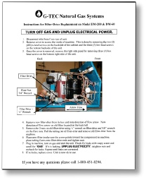 DM-60 instructions to change filter drier